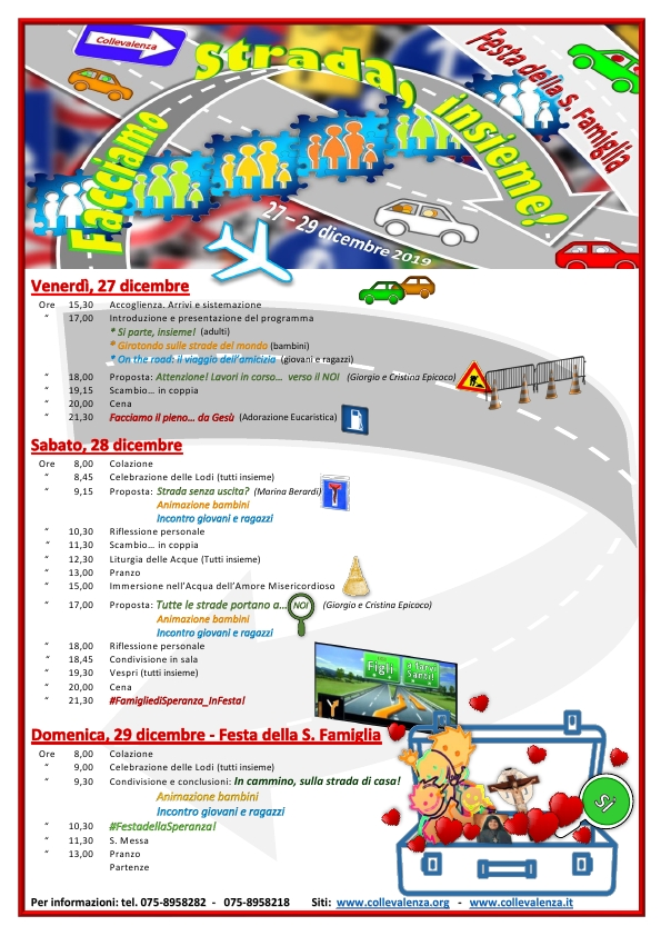 27-29 dicembre 2019: FESTA DELLA FAMIGLIA 2019