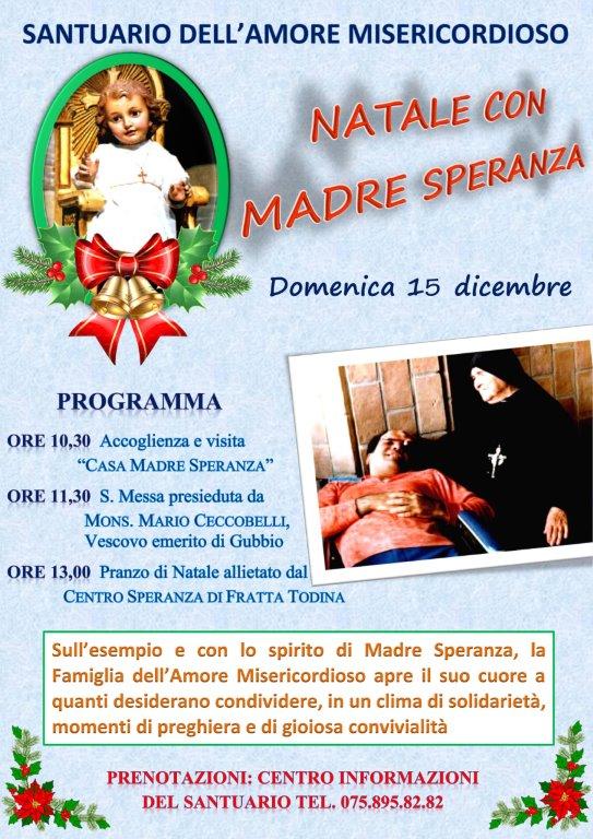 Natale con Madre Speranza 2019