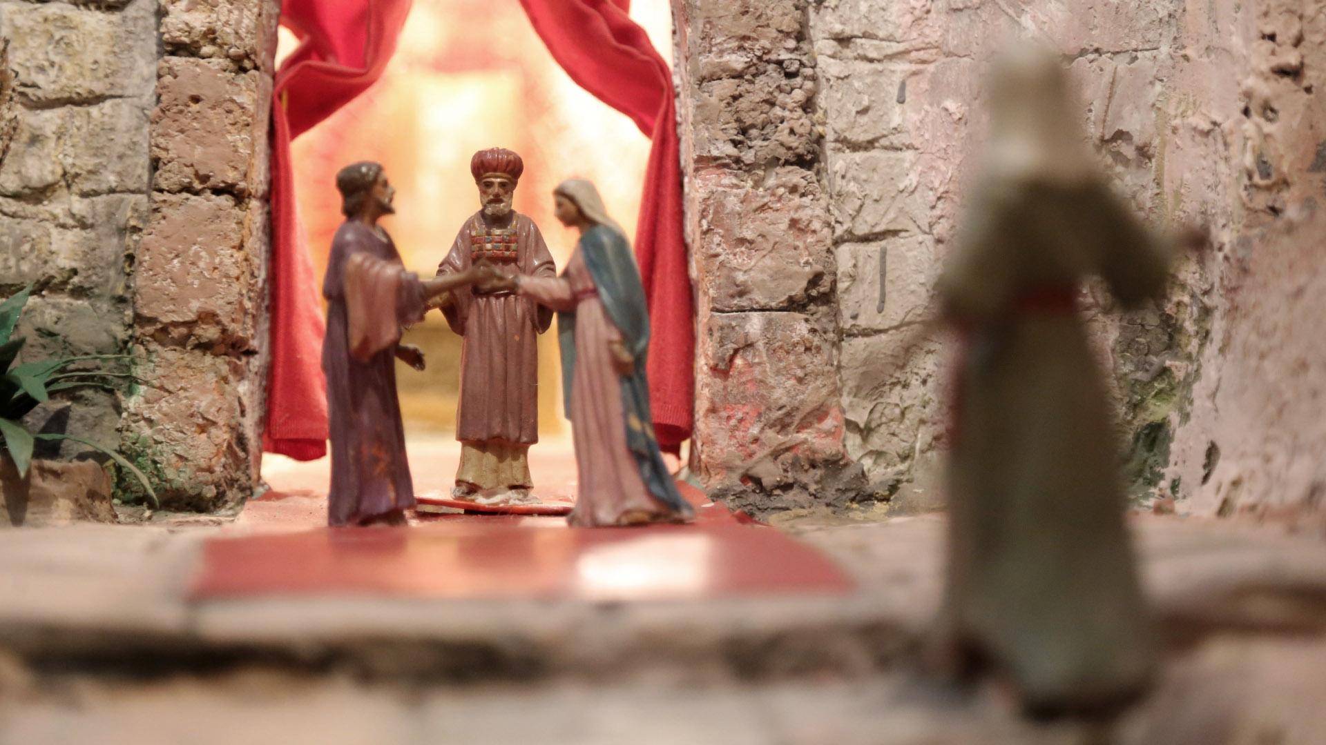 Presepe Poliscenico di Collevalenza: 07. Promessa di Maria e Giuseppe