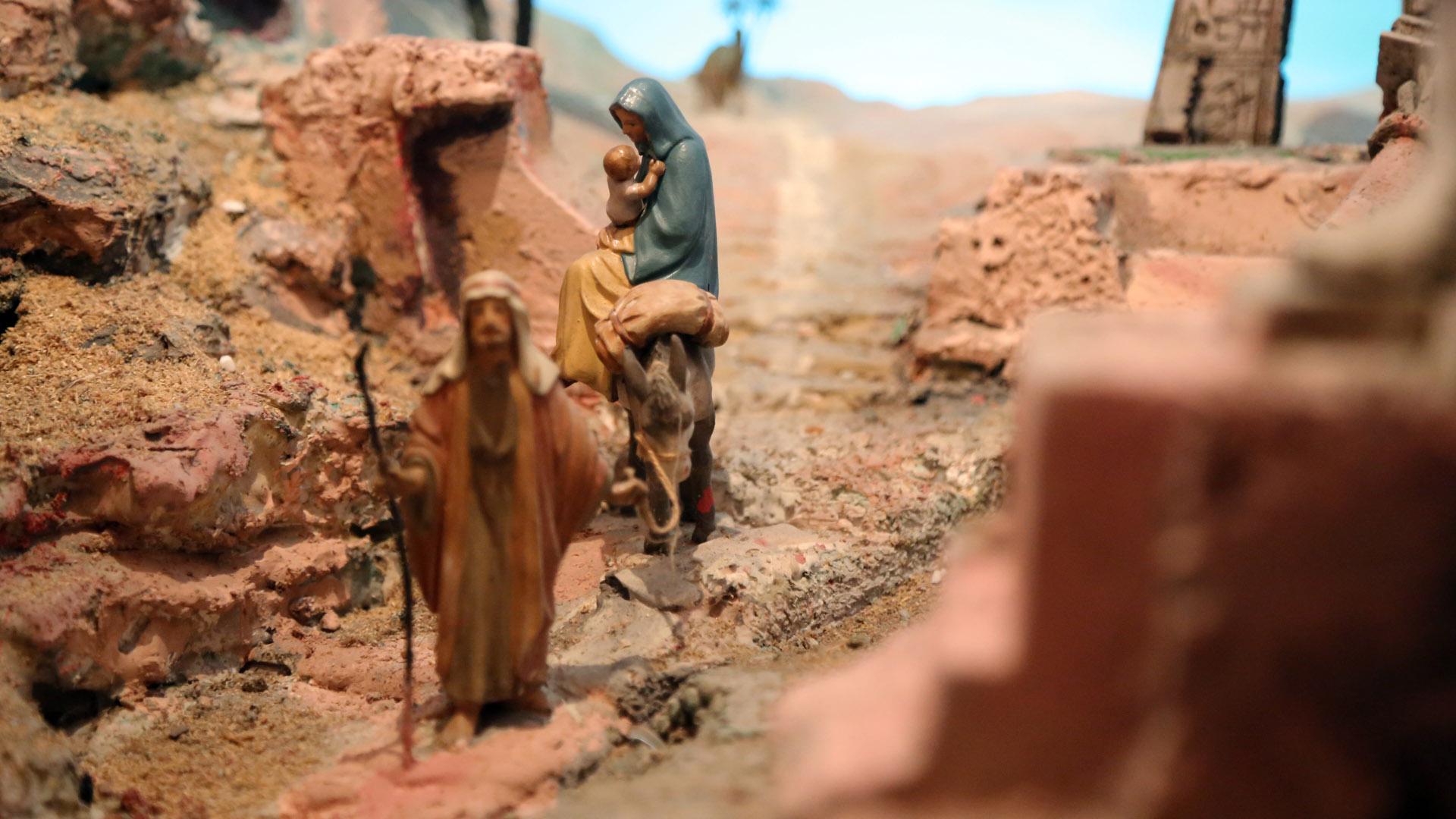 Presepe Poliscenico di Collevalenza: 16. La fuga in Egitto