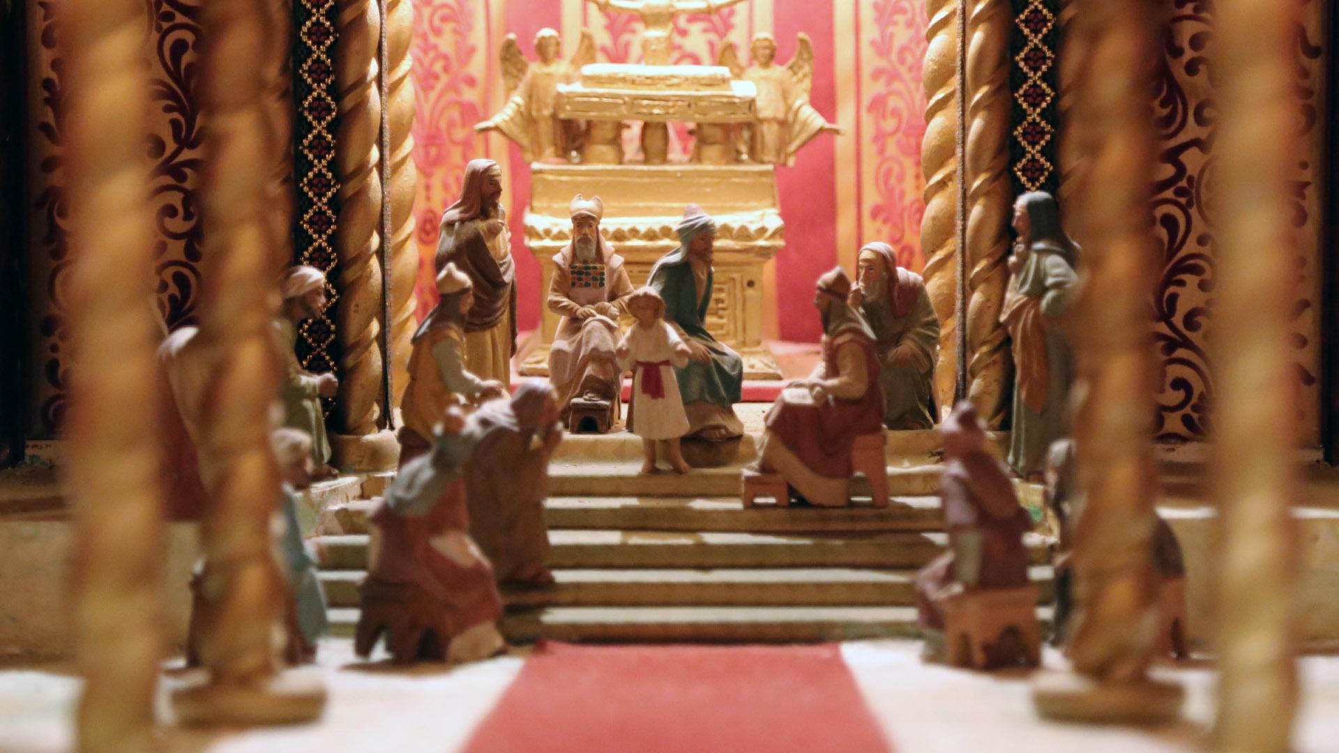 Presepe Poliscenico di Collevalenza: 18. Gesù fra i dottori del tempio