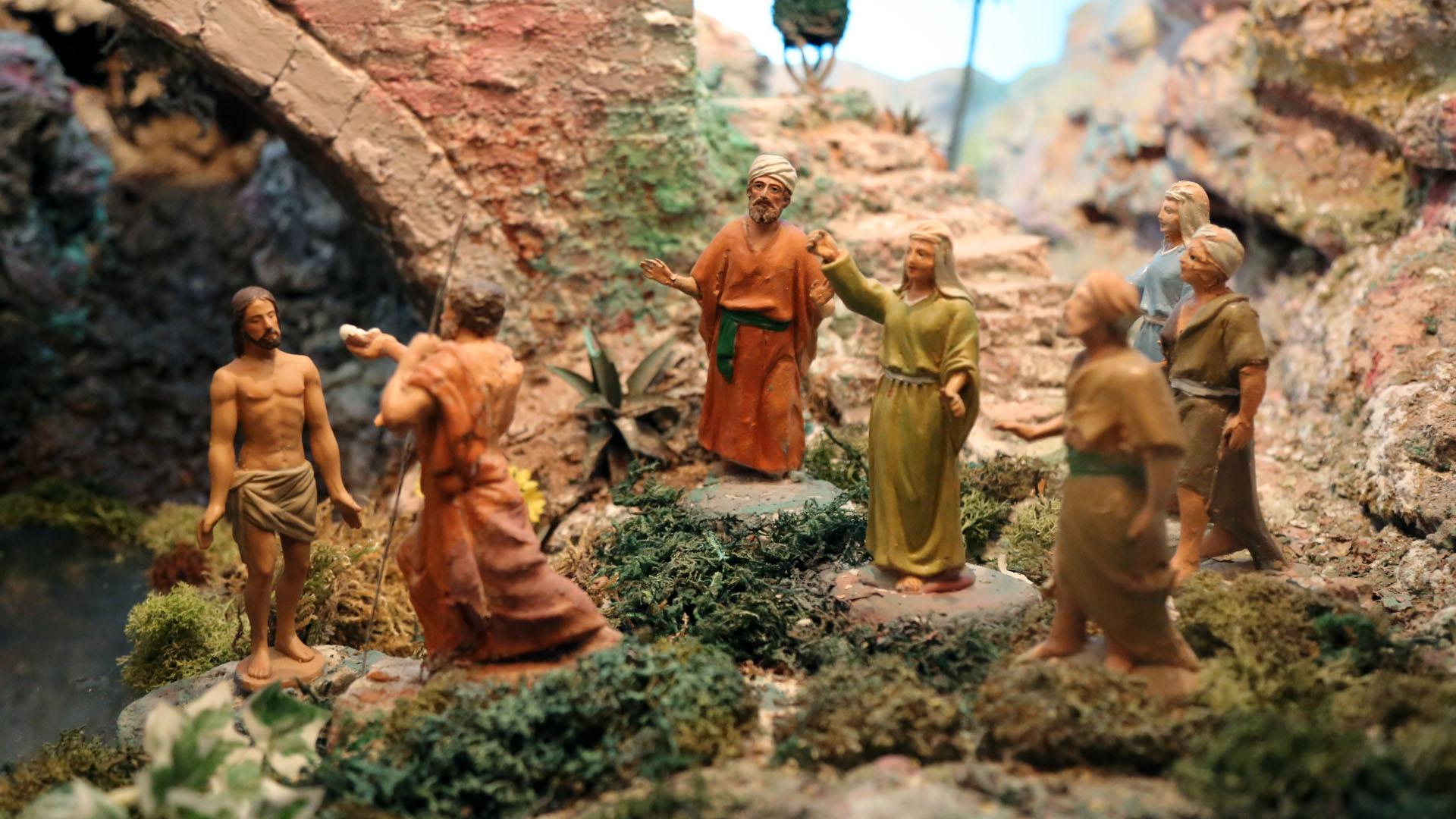 Presepe Poliscenico di Collevalenza: 19. Il battesimo di Gesù