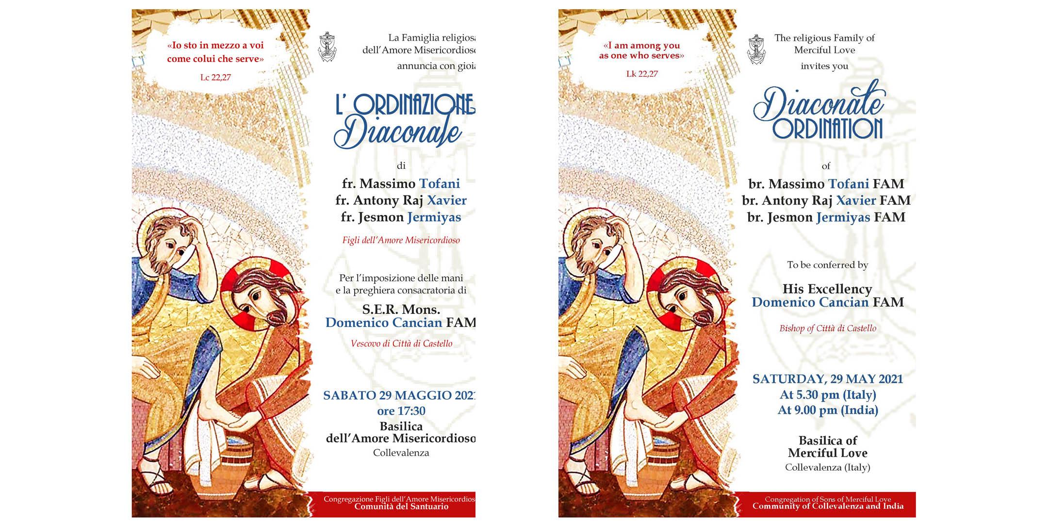 29 maggio 2021 Ordinazione Diaconale